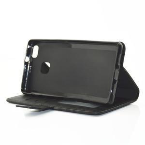 Loves PU kožené pouzdro s kamínky na Huawei P9 Lite - černé - 5