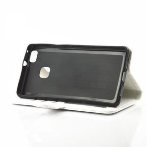 Loves PU kožené pouzdro s kamínky na Huawei P9 Lite - bílé - 5