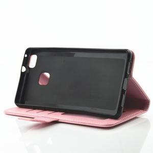 Loves PU kožené puzdro s kamienkami na Huawei P9 Lite - ružové - 5