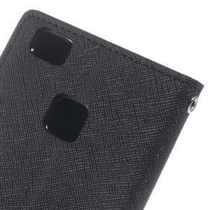 Diary PU kožené pouzdro na telefon Huawei P9 Lite - černé - 5