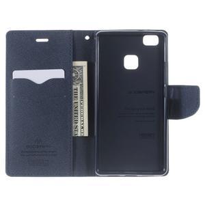 Diary PU kožené pouzdro na telefon Huawei P9 Lite - fialové - 5