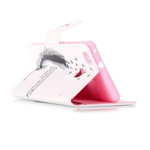 Patter PU kožené pouzdro na mobil Huawei P9 Lite - ptačí peříčko - 5