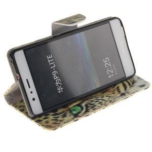 Lethy knižkové puzdro na telefon Huawei P9 Lite - leopard - 5