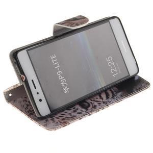 Lethy knižkové puzdro na telefon Huawei P9 Lite - gepard - 5