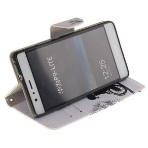 Lethy knižkové puzdro na telefon Huawei P9 Lite - láska na bicykli - 5