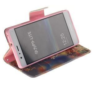 Lethy knížkové pouzdro na telefon Huawei P9 Lite - podzimní zátiší - 5