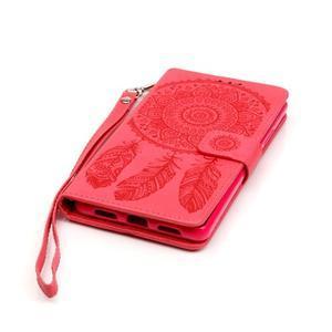 Dreaming PU kožené pouzdro na Huawei P9 Lite - červené - 5