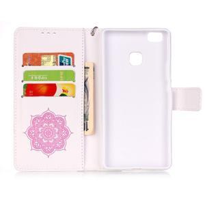 Dream PU kožené pouzdro s kamínky na Huawei P9 Lite - růžové/bílé - 5