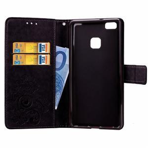 Cloverleaf penženkové puzdro na Huawei P9 Lite - čierne - 5