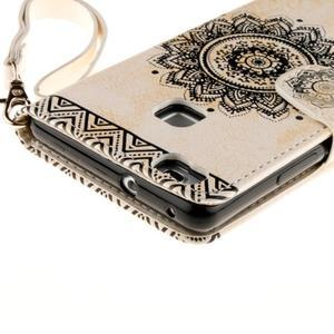 Mandala PU kožené pouzdro na Huawei P9 Lite - béžové - 5