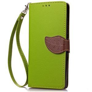Leaf PU kožené pouzdro na Huawei P9 Lite - zelené - 5