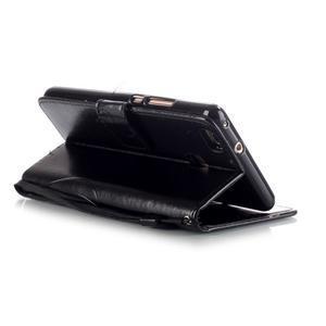 Magicfly knížkové pouzdro na telefon Huawei P9 Lite - černé - 5