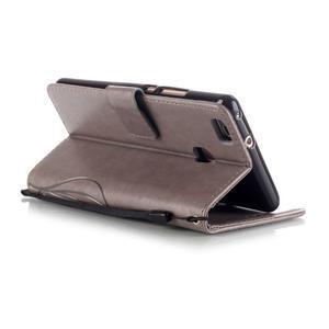 Magicfly knížkové pouzdro na telefon Huawei P9 Lite - šedé - 5