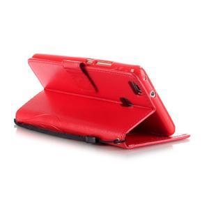 Magicfly knížkové pouzdro na telefon Huawei P9 Lite - červené - 5