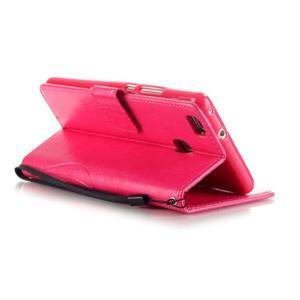 Magicfly knižkové puzdro na telefon Huawei P9 Lite - rose - 5