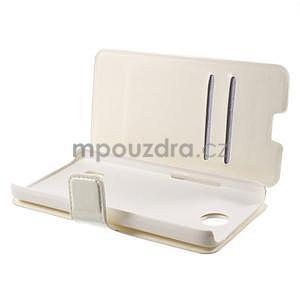Bílé kožené puzdro na Huawei Y635 - 5