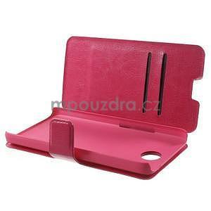 Rose kožené puzdro na Huawei Y635 - 5