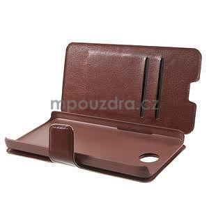 hnedé kožené puzdro na Huawei Y635 - 5