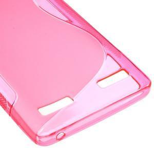 S-line gelový obal na mobil Lenovo A6000 - rose - 5