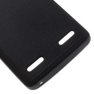 Texturovaný gelový obal na Lenovo A6000 - černý - 5