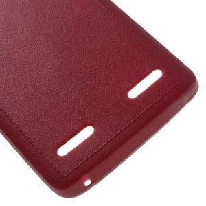 Texturovaný gélový obal pre Lenovo A6000 - červený - 5