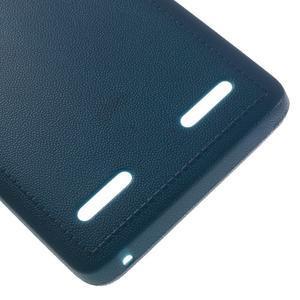 Texturovaný gélový obal pre Lenovo A6000 - modrý - 5