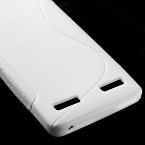 S-line gelový obal na mobil Lenovo A6000 - bílý - 5