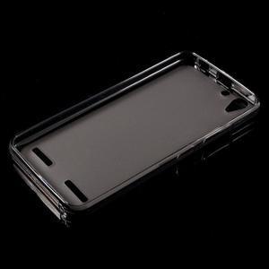 Matný gélový obal pre mobil Lenovo Vibe K5 / K5 Plus - šedý - 5
