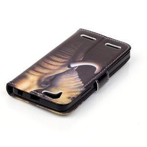 Knížkové puzdro pre mobil Lenovo Vibe K5 / K5 Plus - slon - 5