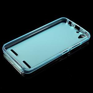 Matný gelový obal na mobil Lenovo Vibe K5 / K5 Plus - modrý - 5