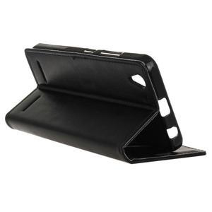 Knížkové PU kožené pouzdro na Lenovo Vibe K5 / K5 Plus - černé - 5
