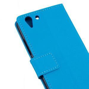 Peněženkové pouzdro na Lenovo Vibe K5 / K5 Plus - modré - 5