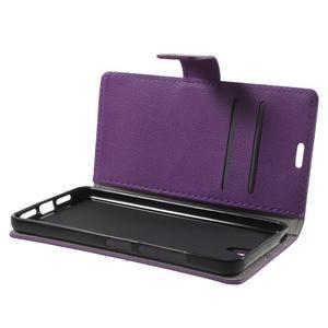 Peňaženkové puzdro pre mobil Lenovo Vibe S1 - fialové - 5
