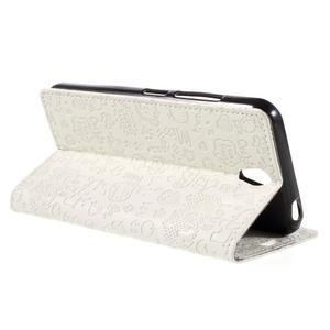 Cartoo peněženkové pouzdro na Lenovo Vibe S1 - bílé - 5