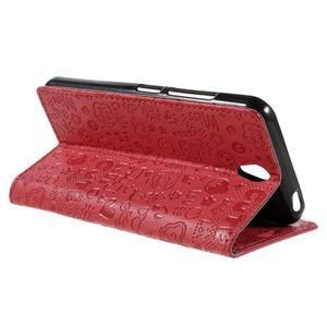 Cartoo peněženkové pouzdro na Lenovo Vibe S1 - červené - 5