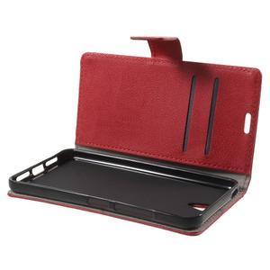 Peňaženkové puzdro pre mobil Lenovo Vibe S1 - červené - 5