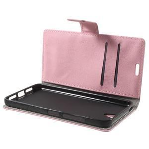 Peňaženkové puzdro pre mobil Lenovo Vibe S1 - ružové - 5