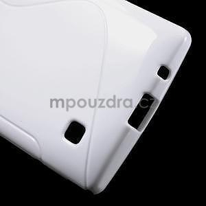 S-line gélový obal pre LG Spirit 4G LTE - biely - 5