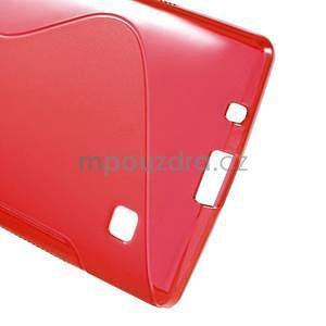 S-line gélový obal pre LG Spirit 4G LTE - červený - 5