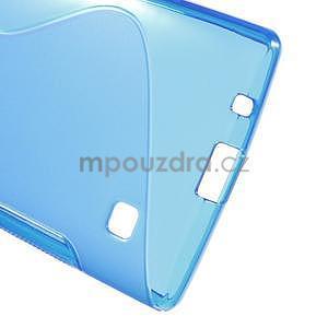 S-line gélový obal pre LG Spirit 4G LTE - modrý - 5