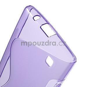 S-line gélový obal pre LG Spirit 4G LTE - fialový - 5