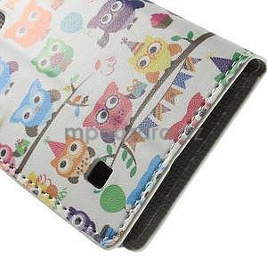 Peňaženkové puzdro na LG Spirit - soví rodina - 5