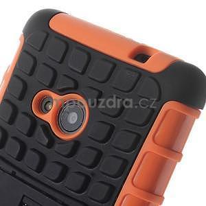 Vysoce odolný obal pre Microsoft Lumia 535 - oranžový - 5