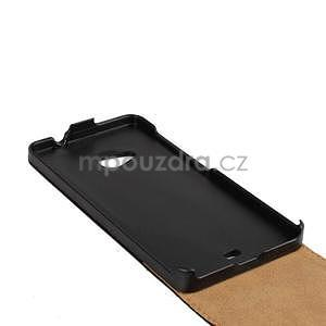 Flipové čierné puzdro na Microsoft Lumia 535 - 5