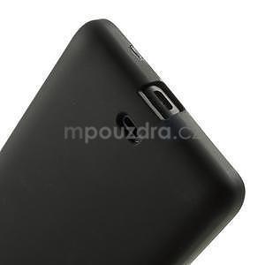 Matný gélový obal Microsoft Lumia 535 - čierny - 5