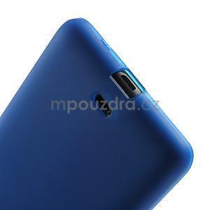 Matný gélový obal Microsoft Lumia 535 - modrý - 5