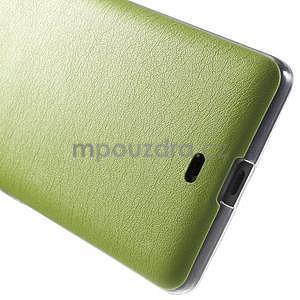 Ultra tenký kožený kryt na Microsoft Lumia 535 - zelený - 5