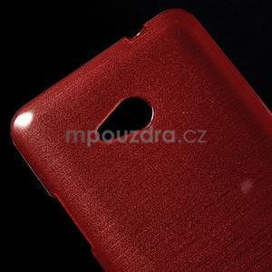Broušený gélový obal na Microsoft Lumia 640 LTE - červený - 5