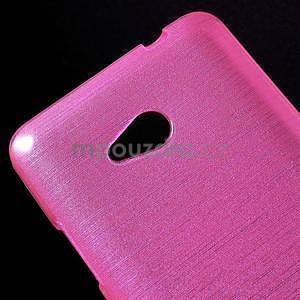 Brúsený gélový obal pre Microsoft Lumia 640 LTE - rose - 5