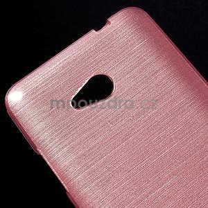 Broušený gélový obal na Microsoft Lumia 640 LTE - růžový - 5